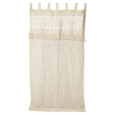 Boho Hand Knitted Cotton Curtain Wall Art
