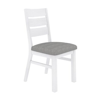 Largo Acacia Timber Dining Chair with Fabric Seat