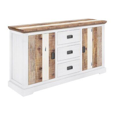 Largo Acacia Timber 2 Door 3 Drawer Buffet Table, 166cm