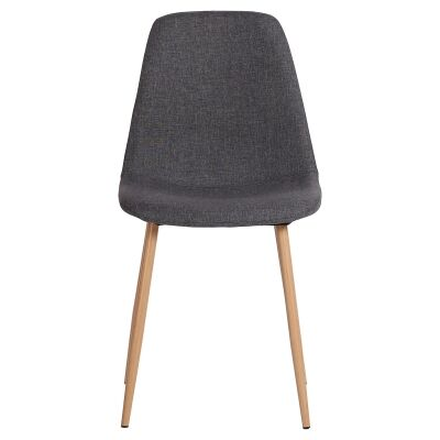 Zolfo Linen Fabric Dining Chair, Charcoal