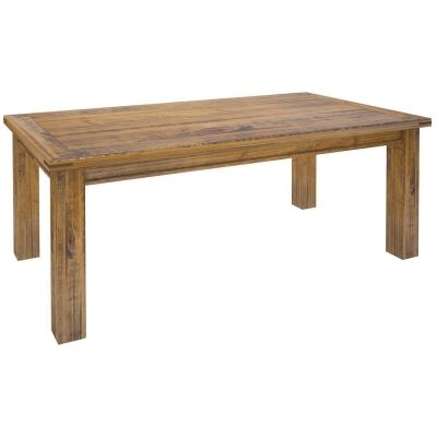Serafin Rustic Pine Timber Dining Table, 180cm