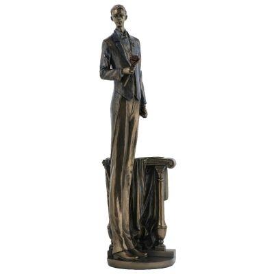 Cast Bronze Figurine of Waiting in Love, Male