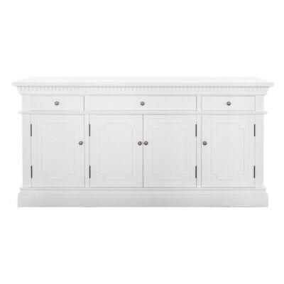 St. James Birch Timbr 4 Door 3 Drawer Sideboard, 165cm, White