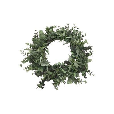 Artificial Eucalyptus Wreath, 75cm
