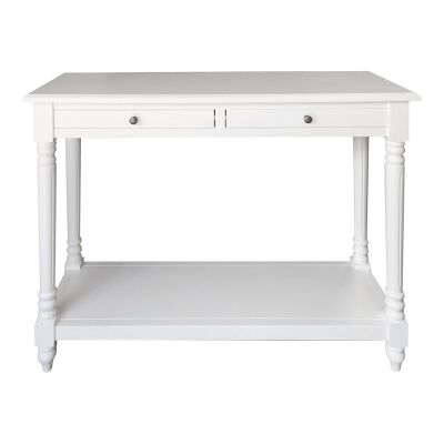 Lucius Birch Timber Console Table, 120cm, Matt White