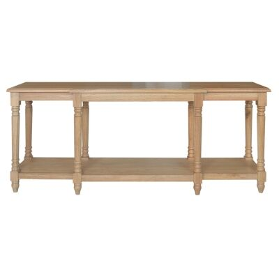 Providence Oak Timber Console Table, 200cm, Natural Oak