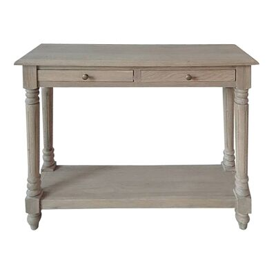Curtin Oak Timber Console Table, 100cm, Weathered Oak