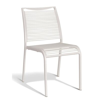 Waikiki Commercial Grade Aluminum Indoor/Outdoor Dining Chair, White