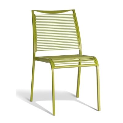 Waikiki Commercial Grade Aluminum Indoor/Outdoor Dining Chair, Green