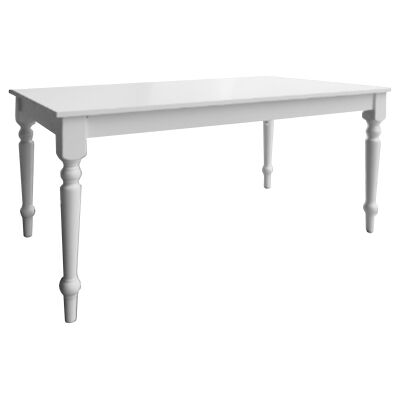Washington Rubber Wood Dining Table, 160cm