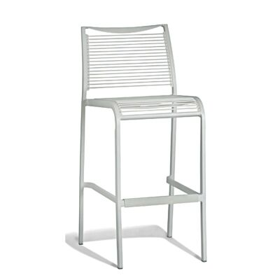Waikiki Commercial Grade Aluminum Indoor/Outdoor Stool,  White