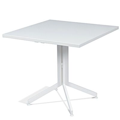 Waikiki Commercial Grade Foldable Indoor/Outdoor Square Dining Table, 70cm, White