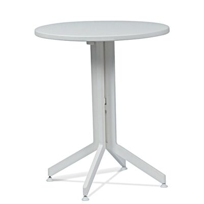 Waikiki Commercial Grade Foldable Indoor/Outdoor Round Dining Table, 60cm, White