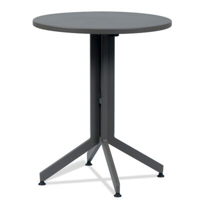 Waikiki Commercial Grade Foldable Indoor/Outdoor Round Dining Table, 60cm, Grey