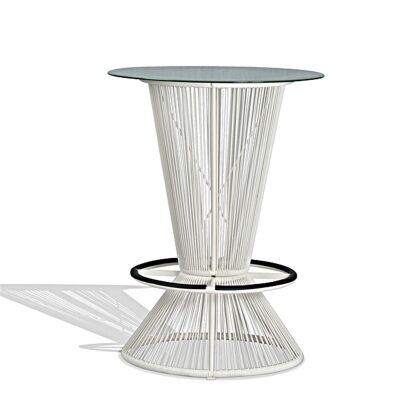 Waikiki Commercial Grade Indoor/Outdoor Round Bar Table, 78cm, White