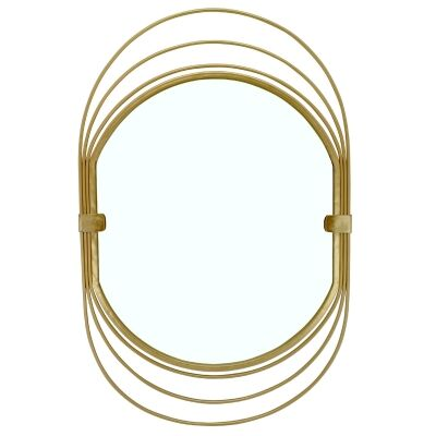 Abell Metal Frame Oval Wall Mirror, 71cm