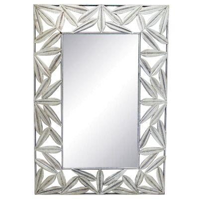 Alvee Leaf Metal Frame Wall Mirror, 100cm
