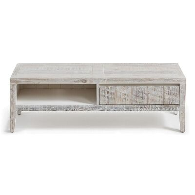Woodend Reclaimed Pine Timber TV Unit, 120cm