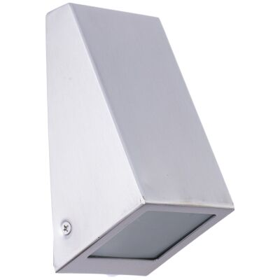 Wedge IP44 Exterior Wall Light, Silver