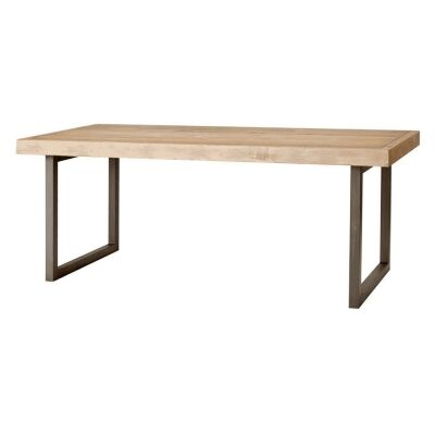 Woodenforge Reclaimed Timber & Metal Dining Table, 198cm