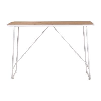 Substation Commercial Grade Pine Timber & Metal Console Table, 120cm, White
