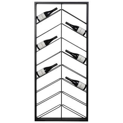 Chevron Commercial Grade Metal Wine Rack