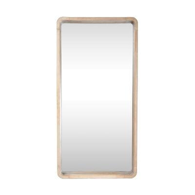 Cooper Commercial Grade Rubber Wood Framed Rectangular Wall Mirror, 80cm
