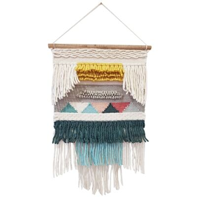Rosa Handwoven Wool Macrame Wall Hanging