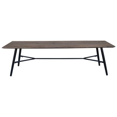 Watson Mango Wood & Metal Dining Bench, 150cm