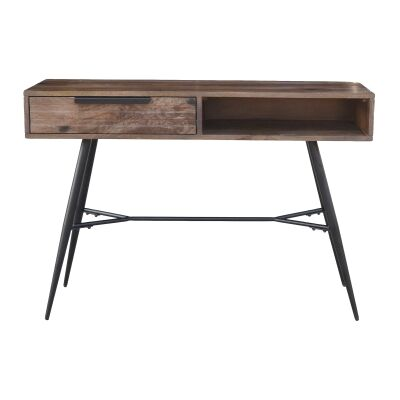 Watson Mango Wood & Metal Console Table, 110cm