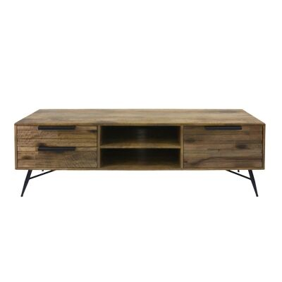 Watson Mango Wood & Metal 1 Door 2 Drawer TV Unit, 160cm
