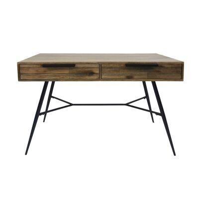 Watson Mango Wood & Metal Desk, 120cm