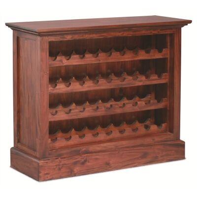 Boku Mahogany Timber Wine Rack, Small, Mahogany