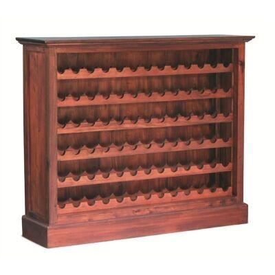 Boku Mahogany Timber Wine Rack, Large, Mahogany