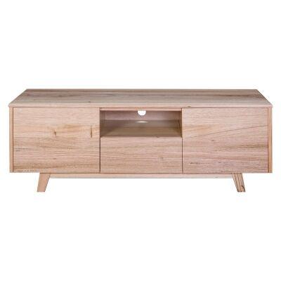 Wade Tasmanian Oak Timber 2 Door 1 Drawer TV Unit, 145cm