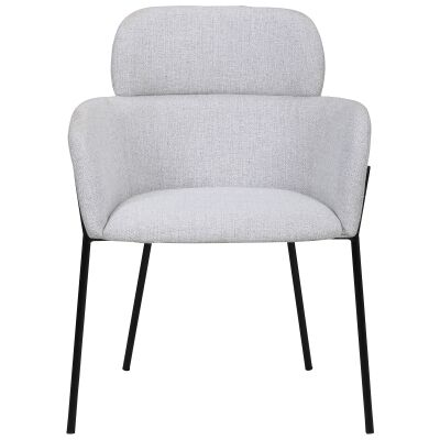 Windsor Commercial Grade Fabric Dining Armchair, Light Grey