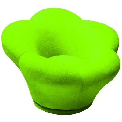 Becky Fabric Swivel Kid's Lounge Chair, Green