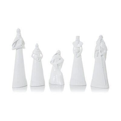 Salinas 5 Piece Nativity Figurine Set, White