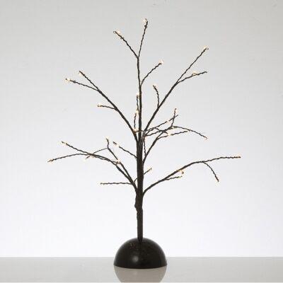 Kiyan Twisted Wire Tabletop LED Light Up Twig Tree, 40cm