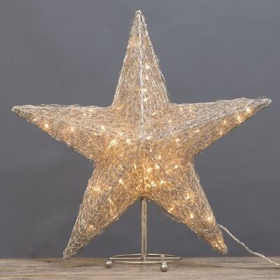 Asa LED Light Up Wire Star Ornament