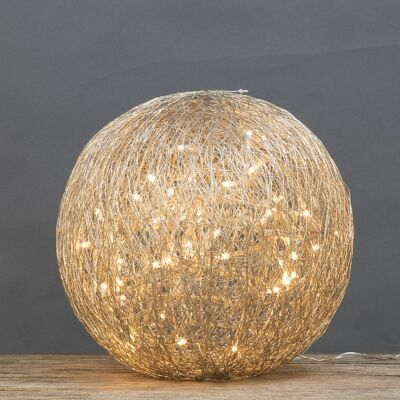 Asa LED Light Up Wire Ball Ornament, Large