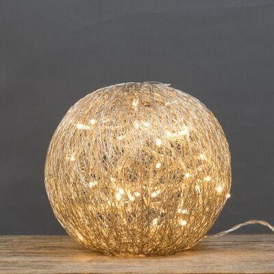 Asa LED Light Up Wire Ball Ornament, Medium