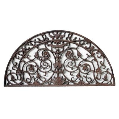 Gillie Cast Iron Half Moon Grande Doormat, Antique Rust