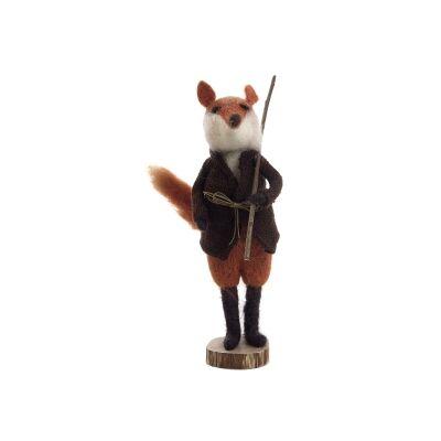 Cem Wool Standing Fox Figurine