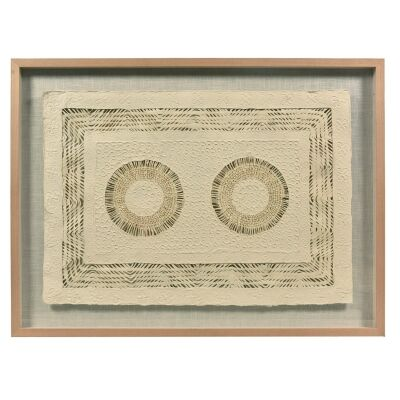 Ledger Textured Double Circle Paper Wall Art, 120cm