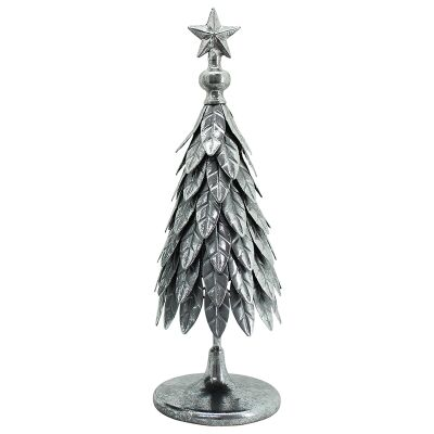 Silvery Star Iron Enchanting Christmas Tree Decor, Small