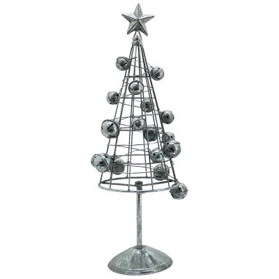 Silvery Star Iron  Bell Bauble Christmas Tree Decor