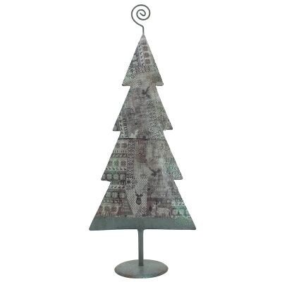 Stanford Iron Flat Christmas Tree Decor, Pattern Patch