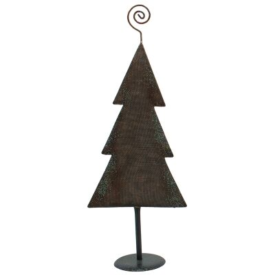 Stanford Iron Flat Christmas Tree Decor, Weave Texture