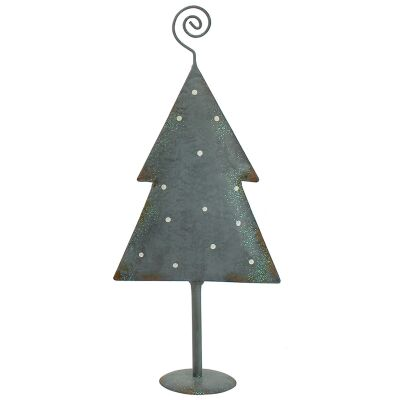 Stanford Iron Flat Christmas Tree Decor, Polka Dot